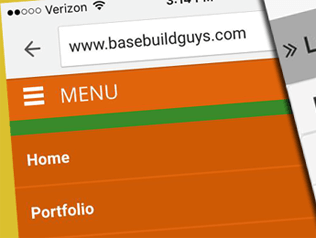 Custom mobile <b>WordPress</b> theme with nested submenus.