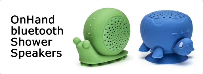 OnHand Has Produced Some Pretty Nifty Gadgets That Allow You To Listen To  Your Music In The Shower. They Come In A Variety Of Cute Animal Shapes.