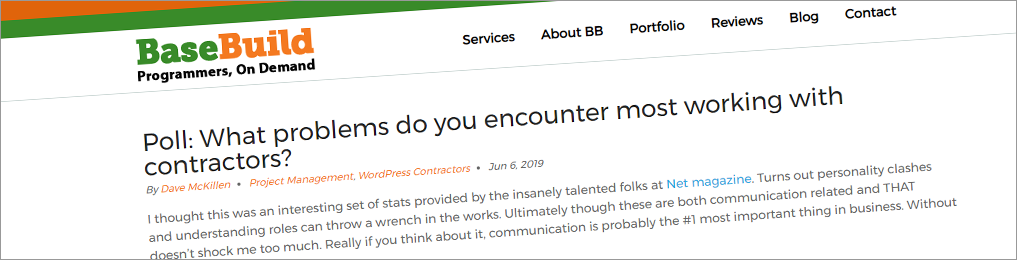 Poll: What problems do you encounter most working with contractors?